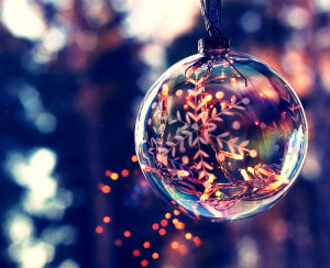 Christmas glass decoration